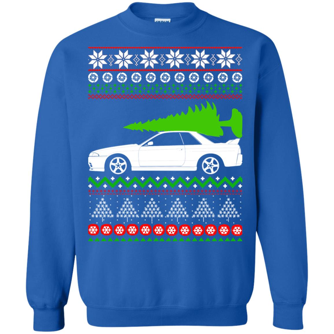 image 6821 - Nissan Skyline GTR R32 Godzilla Christmas Sweater, Hoodie