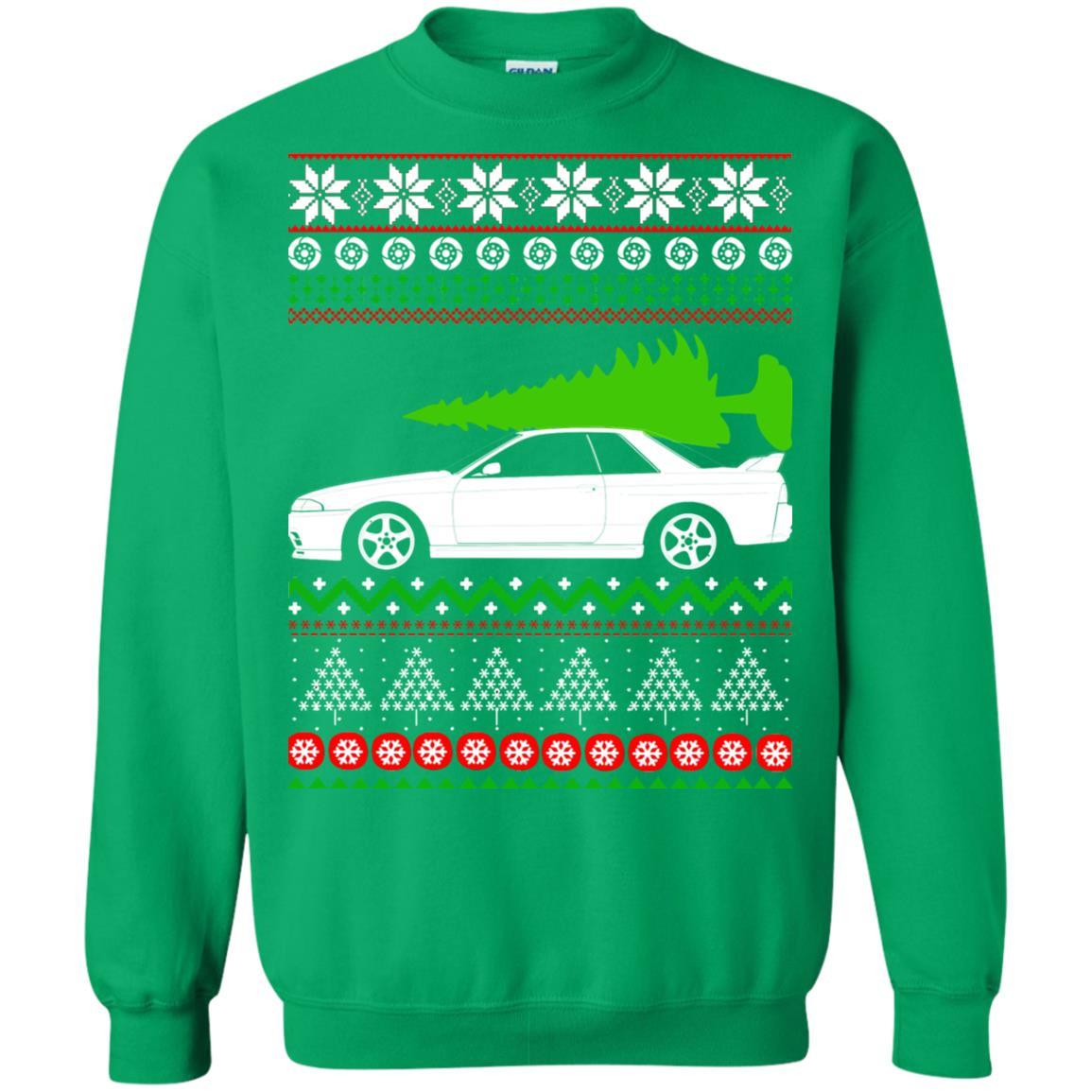image 6822 - Nissan Skyline GTR R32 Godzilla Christmas Sweater, Hoodie