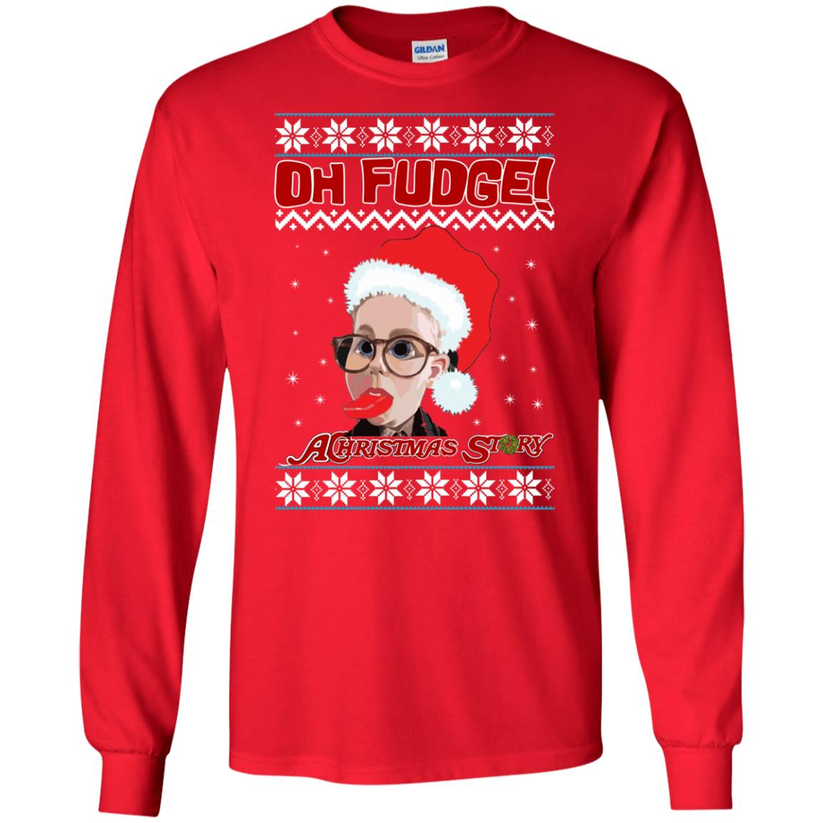 image 6860 - Oh, Fudge A Christmas Story Ugly Sweater, Hoodie