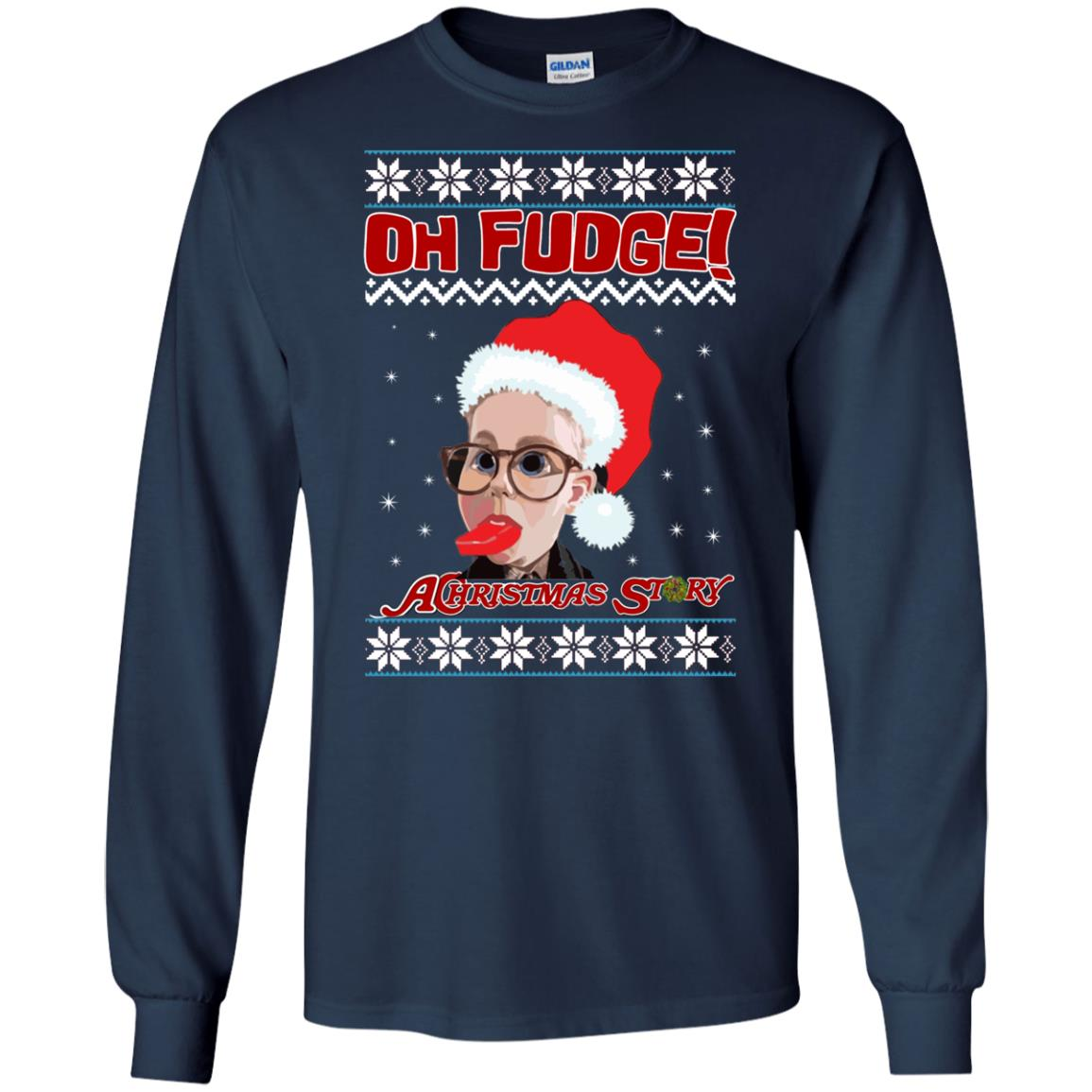 image 6861 - Oh, Fudge A Christmas Story Ugly Sweater, Hoodie
