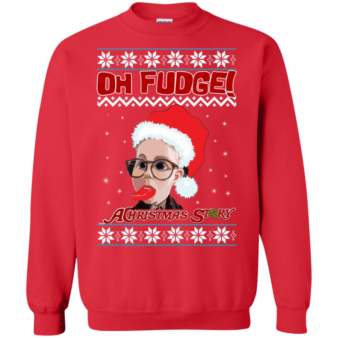 image 6867 - Oh, Fudge A Christmas Story Ugly Sweater, Hoodie