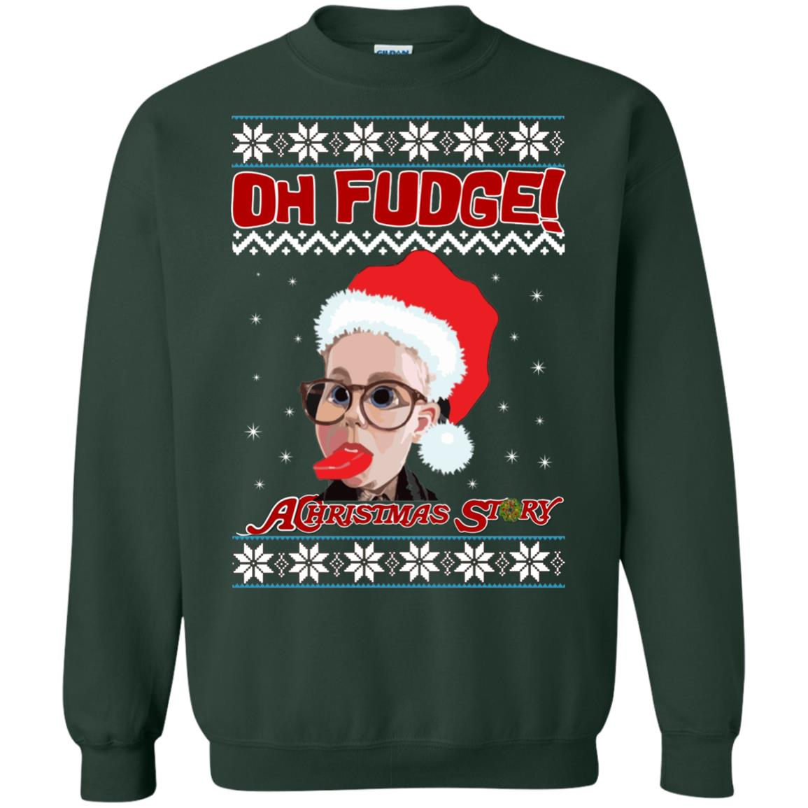 image 6868 - Oh, Fudge A Christmas Story Ugly Sweater, Hoodie
