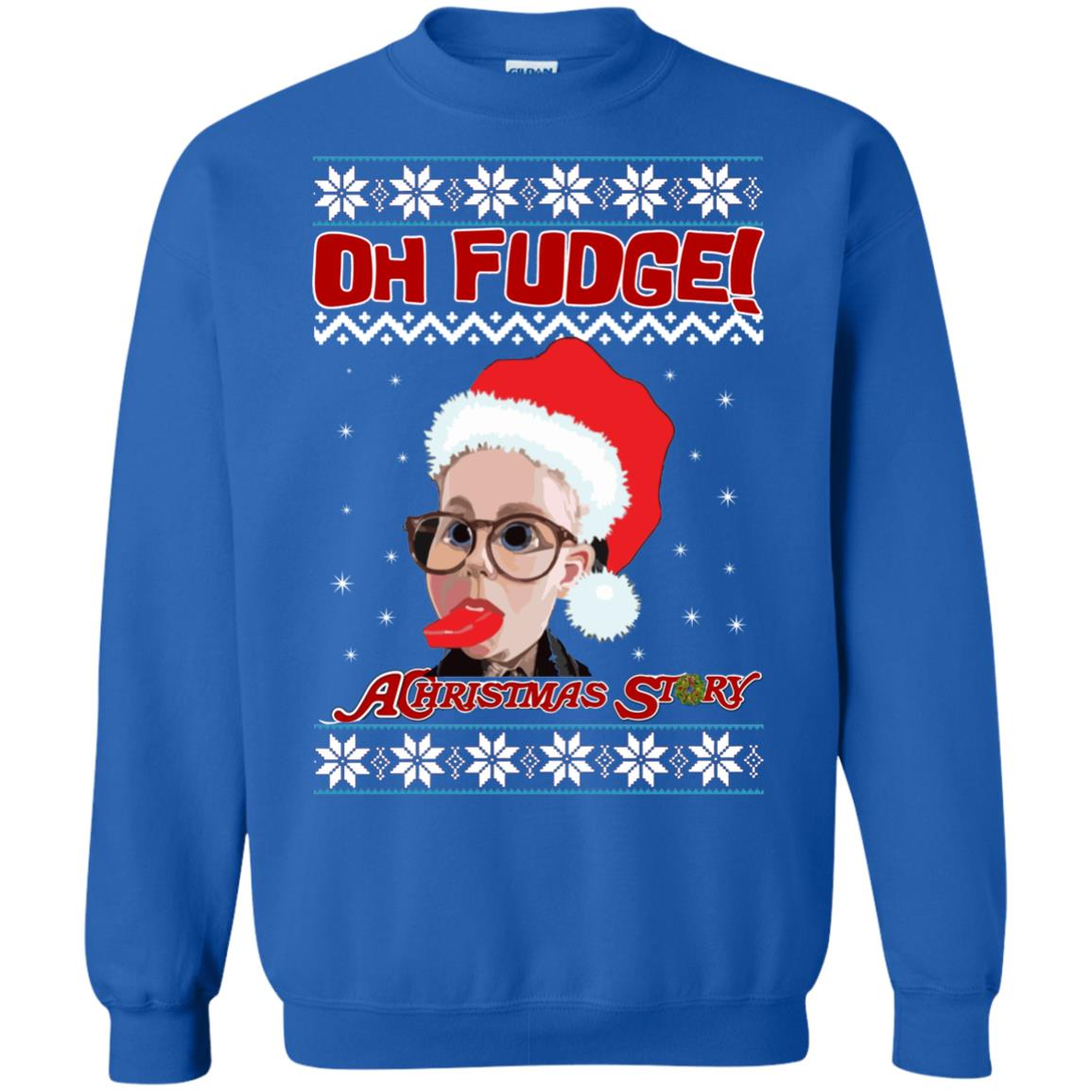 image 6869 - Oh, Fudge A Christmas Story Ugly Sweater, Hoodie