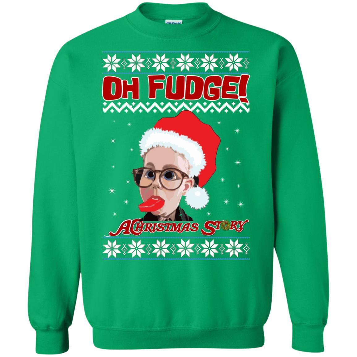 image 6870 - Oh, Fudge A Christmas Story Ugly Sweater, Hoodie