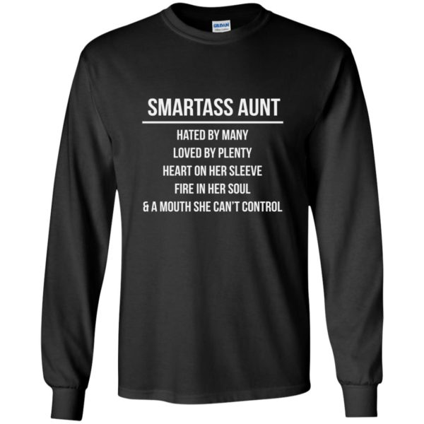 image 6921 600x600 - Smartass Aunt Hated By Many loved By Plenty Shirt, Tank