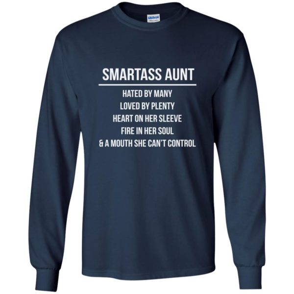 image 6922 600x600 - Smartass Aunt Hated By Many loved By Plenty Shirt, Tank