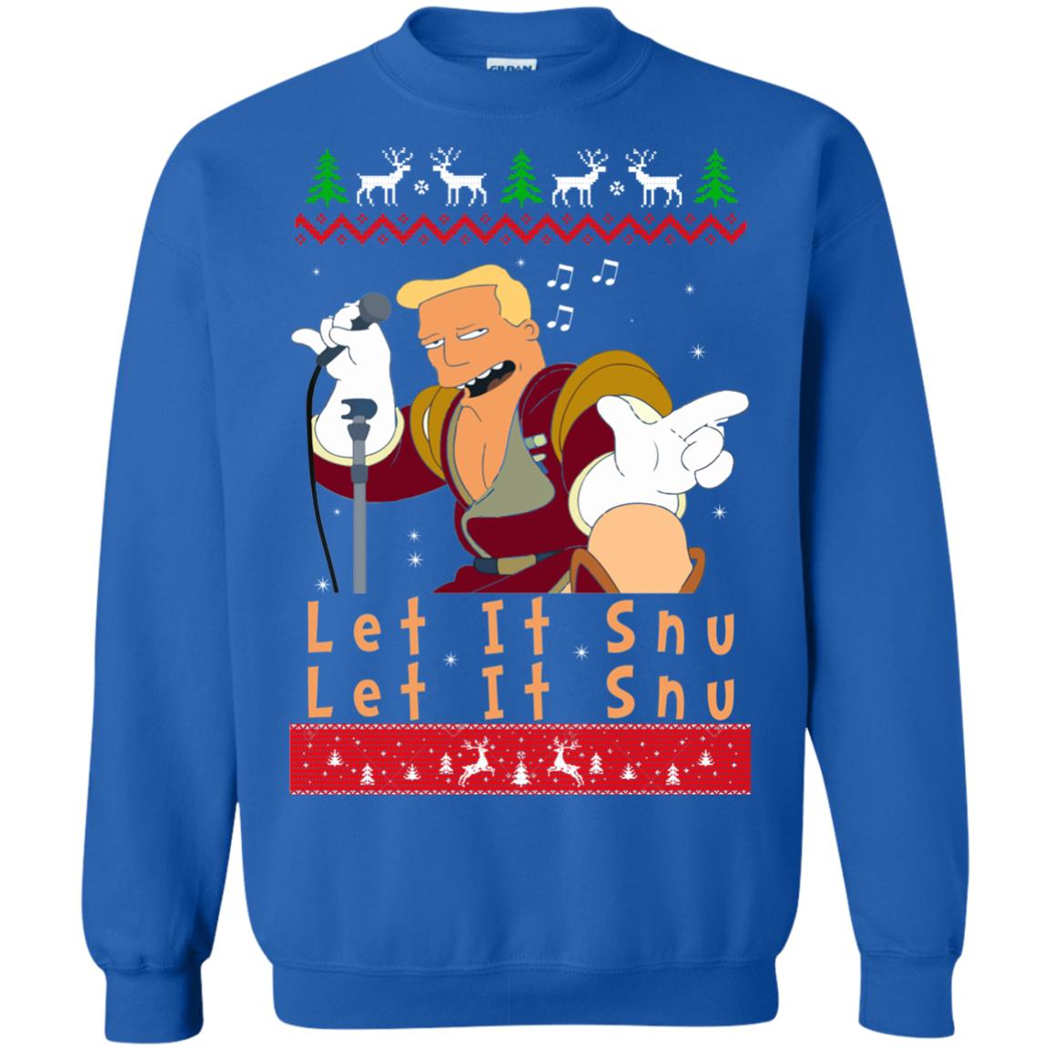 image 722 - Zapp Brannigan Let It Snu Christmas Sweatshirt, Hoodie