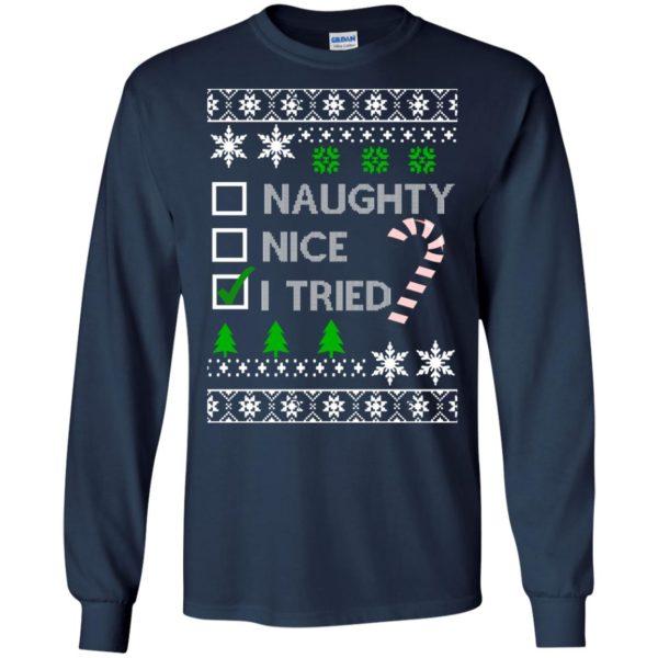 image 761 600x600 - Naughty Nice Tired Christmas Sweater, Shirt