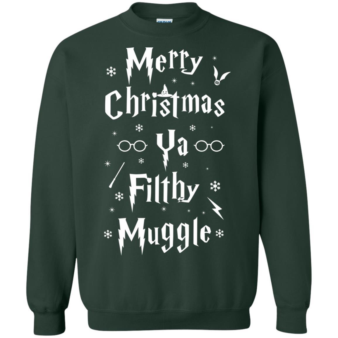 merry christmas ya filthy muggle sweatshirt hoodie