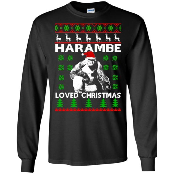 image 808 600x600 - Harambe Loved Christmas Sweater, Shirt, Hoodie