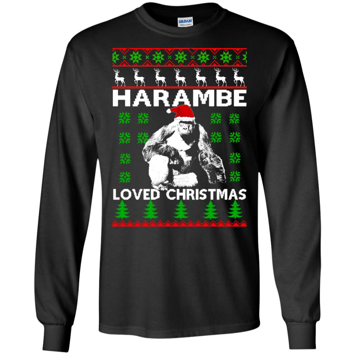 image 808 - Harambe Loved Christmas Sweater, Shirt, Hoodie