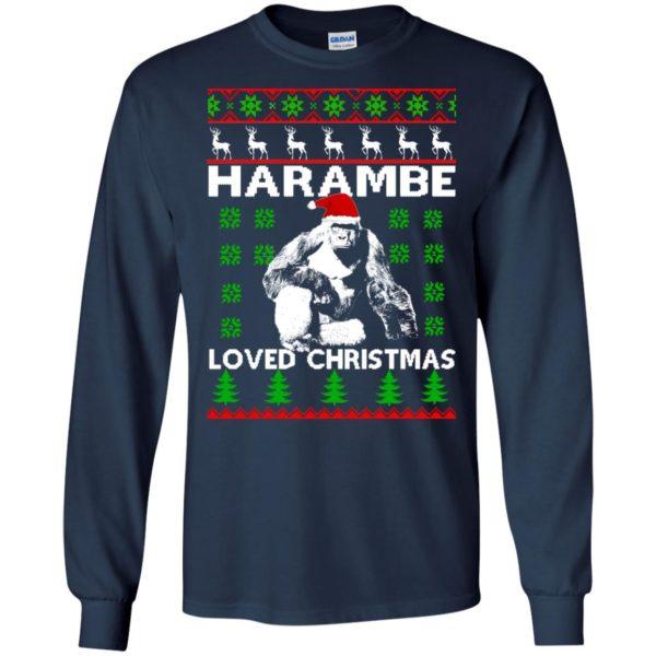 image 809 600x600 - Harambe Loved Christmas Sweater, Shirt, Hoodie