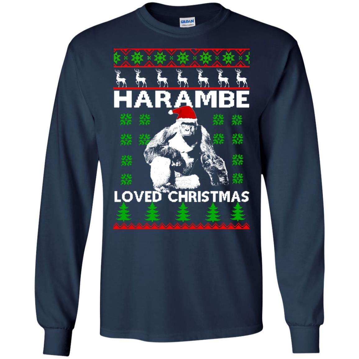 image 809 - Harambe Loved Christmas Sweater, Shirt, Hoodie