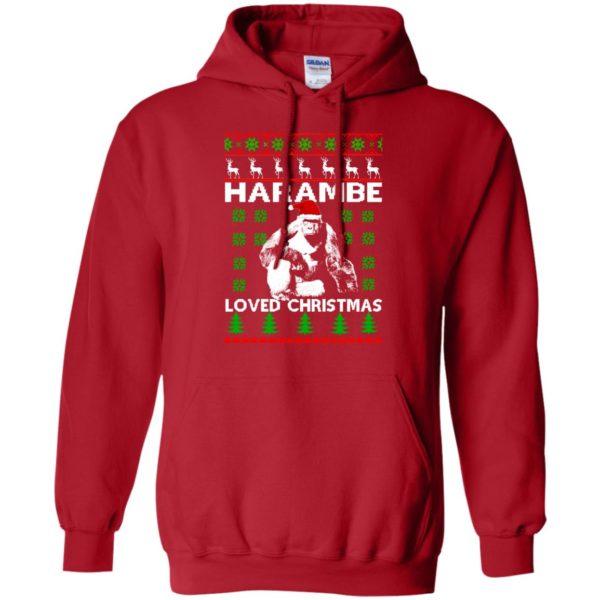 image 813 600x600 - Harambe Loved Christmas Sweater, Shirt, Hoodie