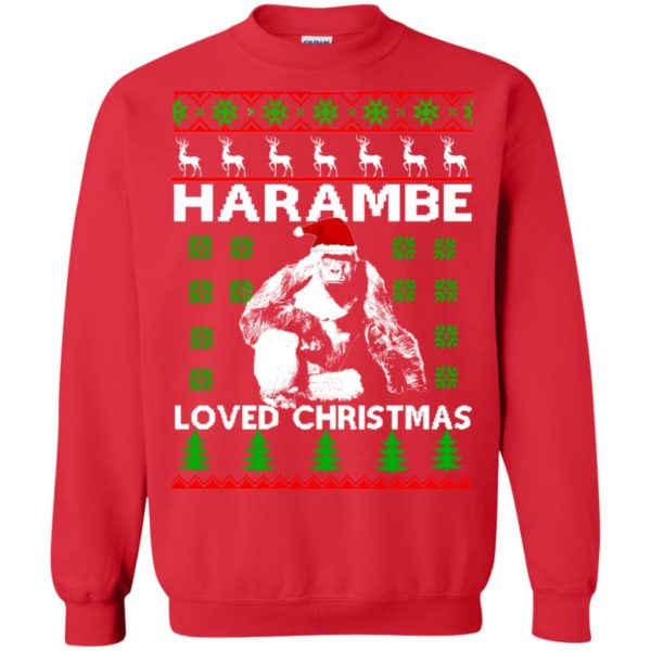 image 816 600x600 - Harambe Loved Christmas Sweater, Shirt, Hoodie