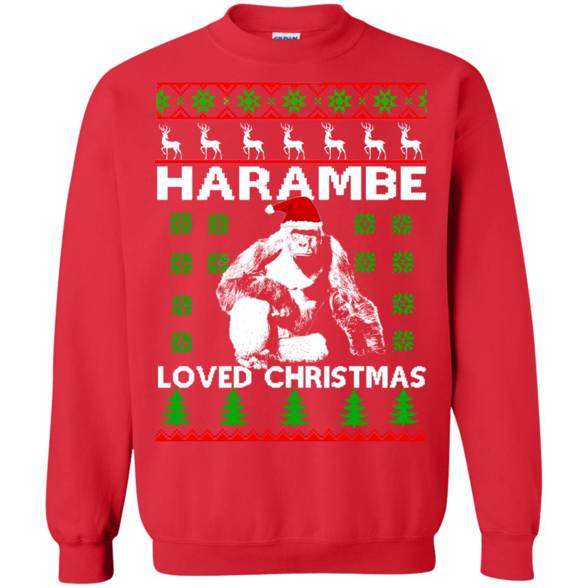 image 816 - Harambe Loved Christmas Sweater, Shirt, Hoodie