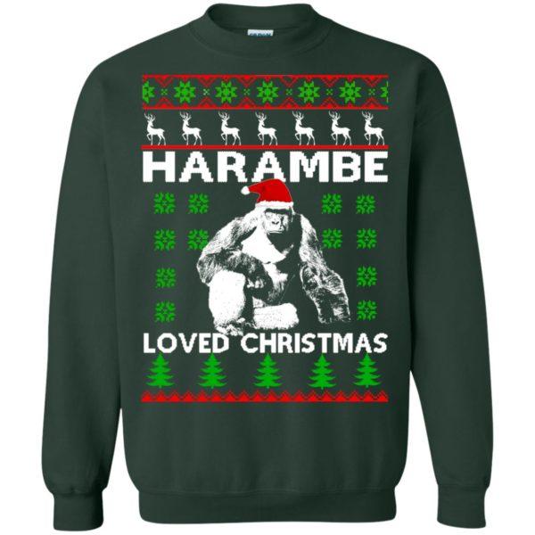 image 817 600x600 - Harambe Loved Christmas Sweater, Shirt, Hoodie