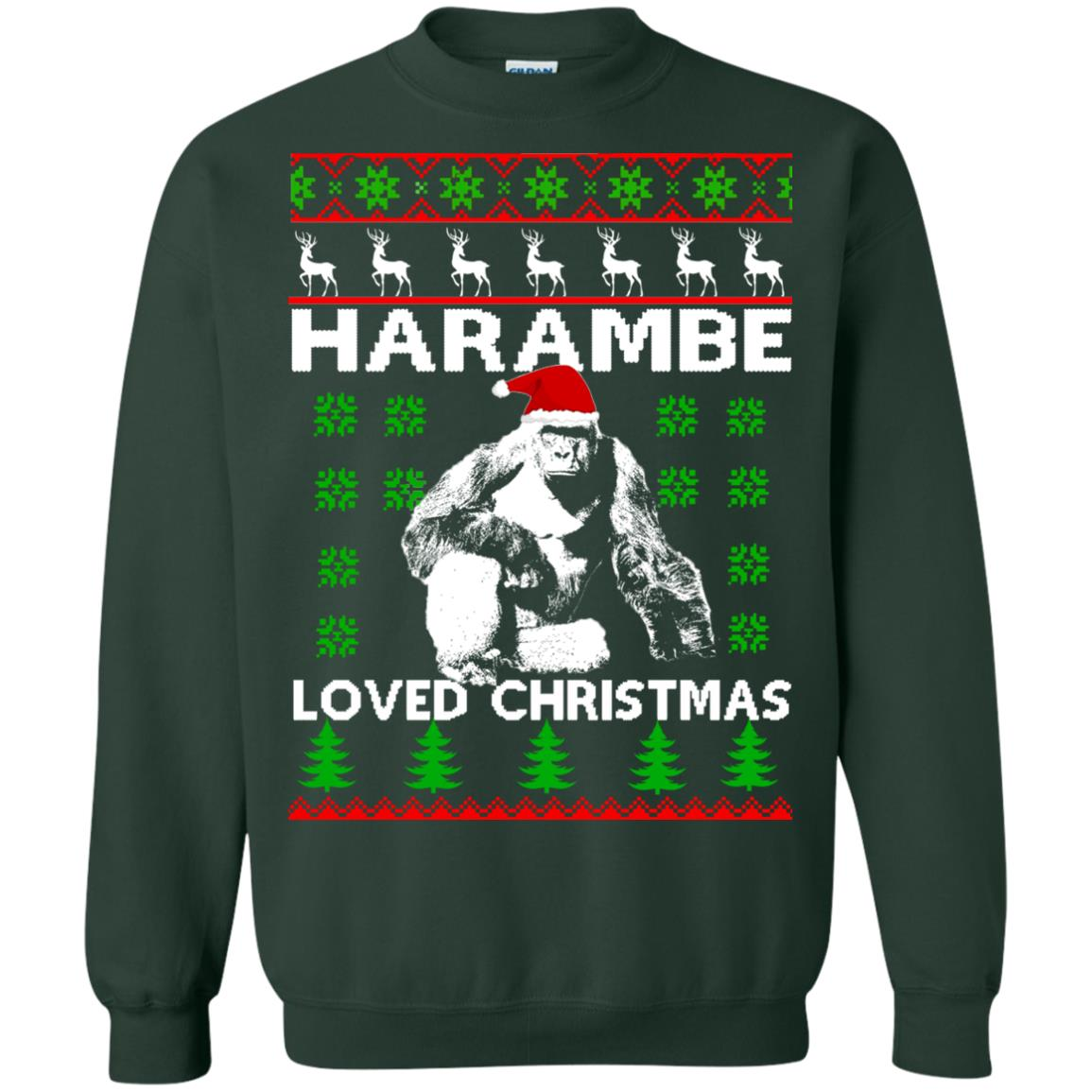 image 817 - Harambe Loved Christmas Sweater, Shirt, Hoodie