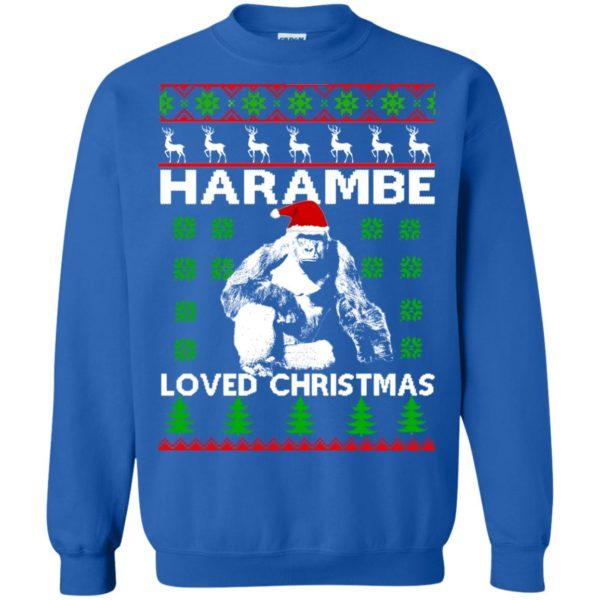 image 818 600x600 - Harambe Loved Christmas Sweater, Shirt, Hoodie