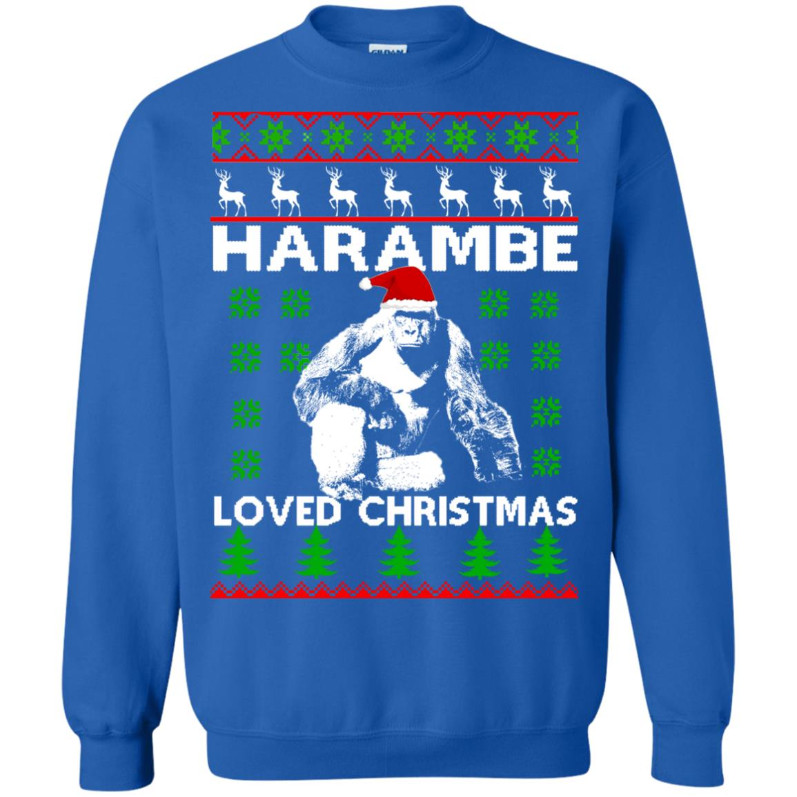 image 818 - Harambe Loved Christmas Sweater, Shirt, Hoodie
