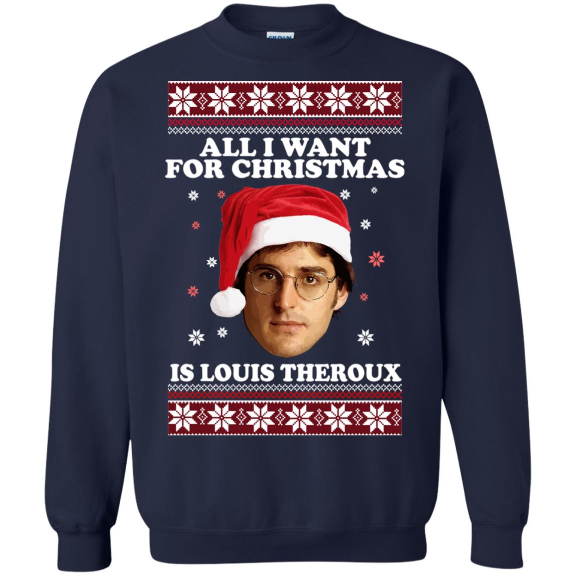 image 851 - All I Want For Christmas Is Louis Theroux Sweater, Shirt