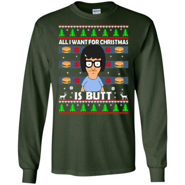 image 138 600x600 - Bob's Burgers: All I Want for Xmas is Butt Christmas Sweater, Hoodie