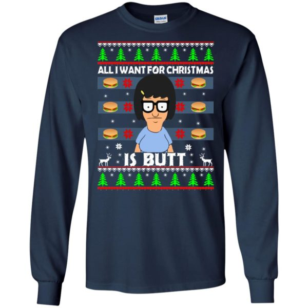 image 140 600x600 - Bob's Burgers: All I Want for Xmas is Butt Christmas Sweater, Hoodie