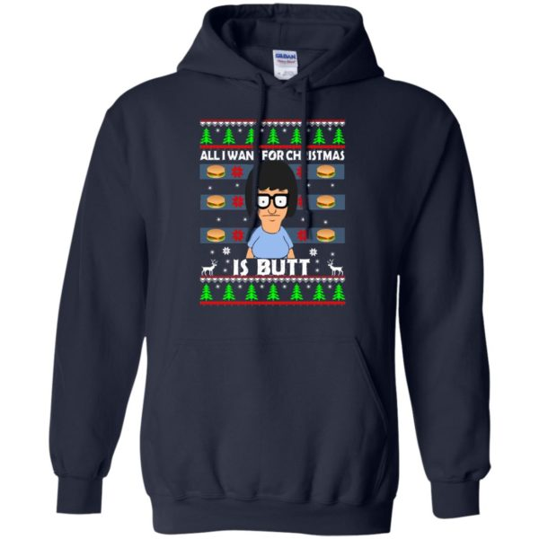 image 142 600x600 - Bob's Burgers: All I Want for Xmas is Butt Christmas Sweater, Hoodie