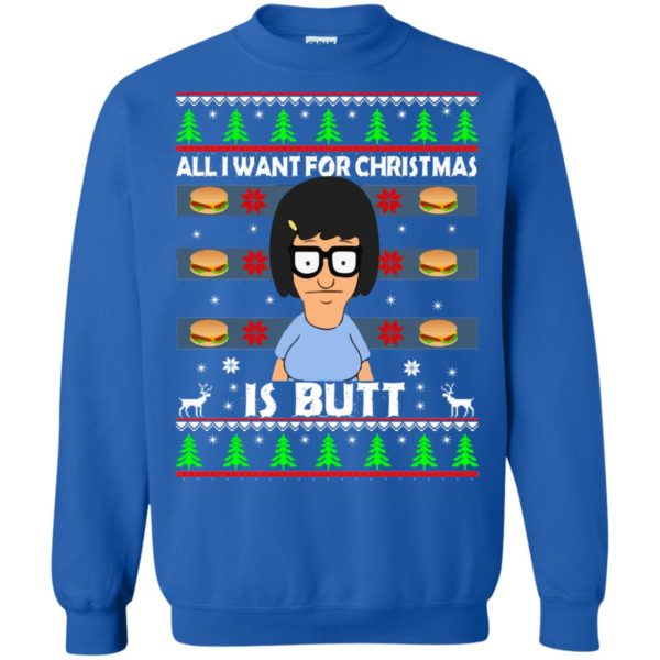 image 147 600x600 - Bob's Burgers: All I Want for Xmas is Butt Christmas Sweater, Hoodie