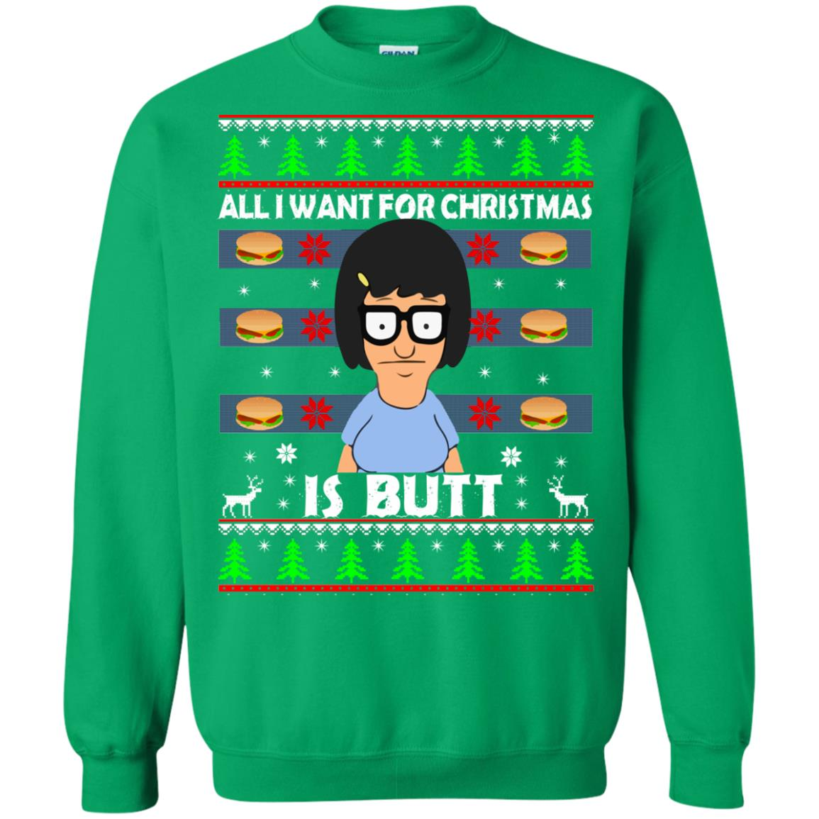 image 148 - Bob's Burgers: All I Want for Xmas is Butt Christmas Sweater, Hoodie
