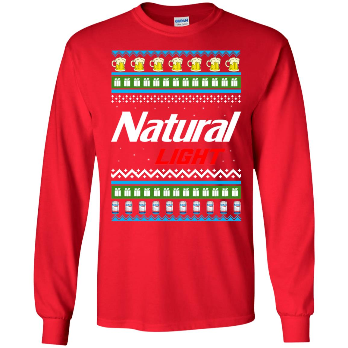 Natural Light Christmas Sweater Hoodie Long Sleeve Rockatee