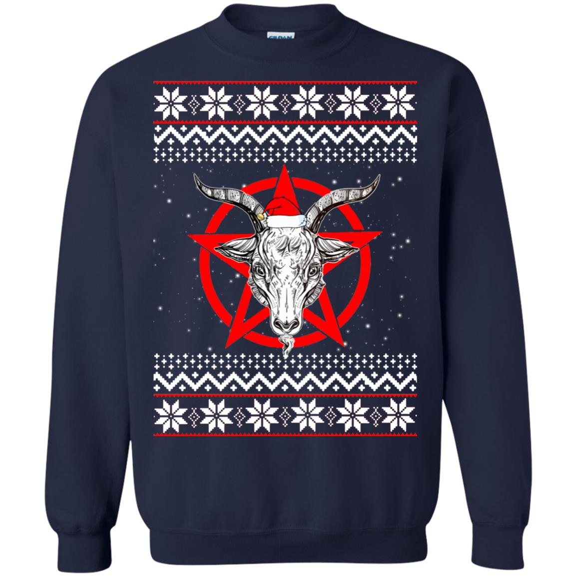 image 240 - Satanic Pentagram Christmas sweater, hoodie, long sleeve