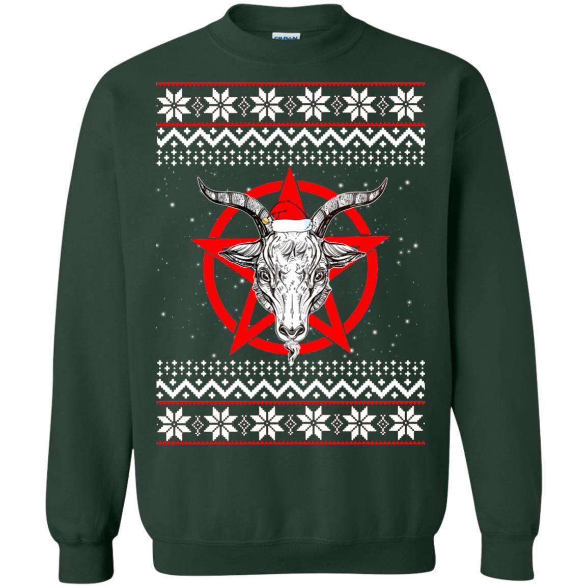 Satanic Christmas Sweater.Satanic Pentagram Christmas Sweater Hoodie Long Sleeve