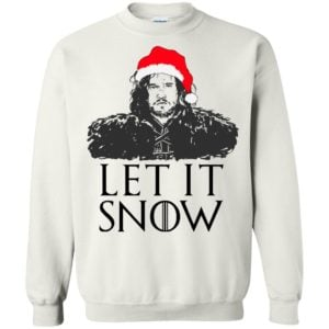 David Beckham GOT Jon Snow Let It Snow sweater & shirt