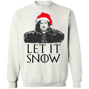 David Beckham GOT Jon Snow Let It Snow sweater & shirt