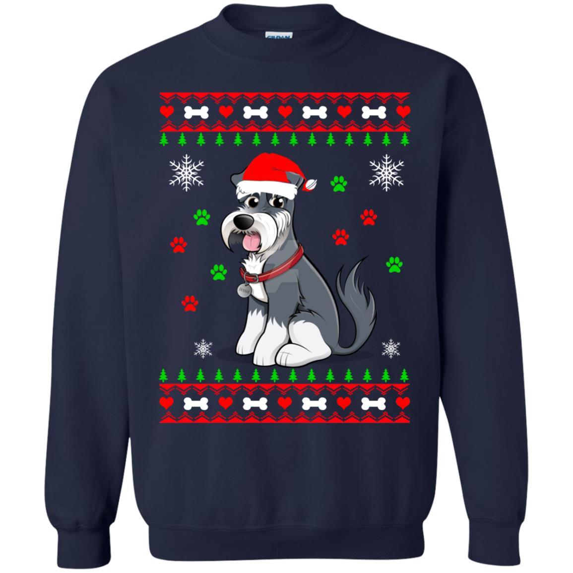 image 44 - Schnauzer Christmas Sweater, Ugly Sweatshirts