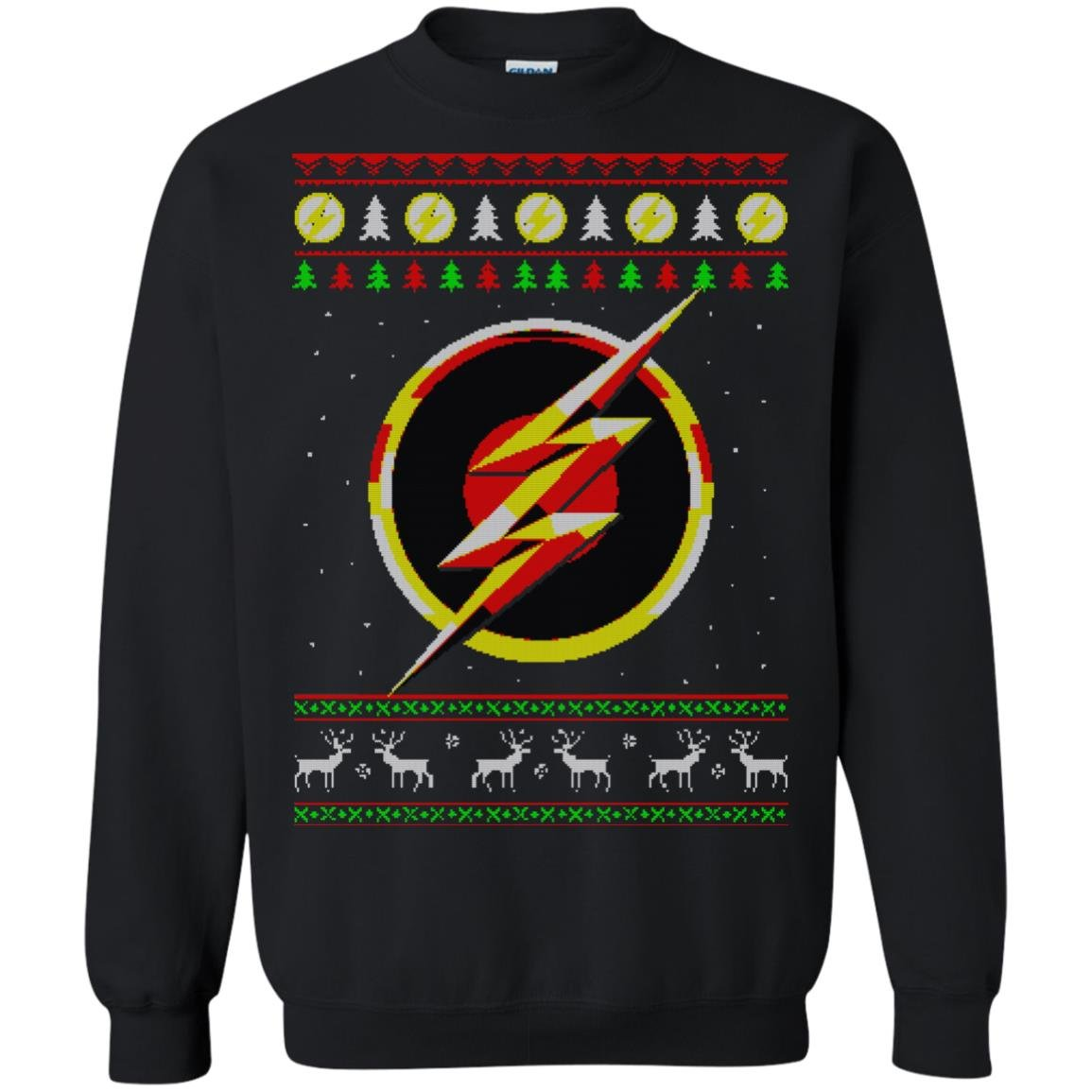 The Flash Ugly Christmas Sweatshirt Hoodie T Shirt Rockatee