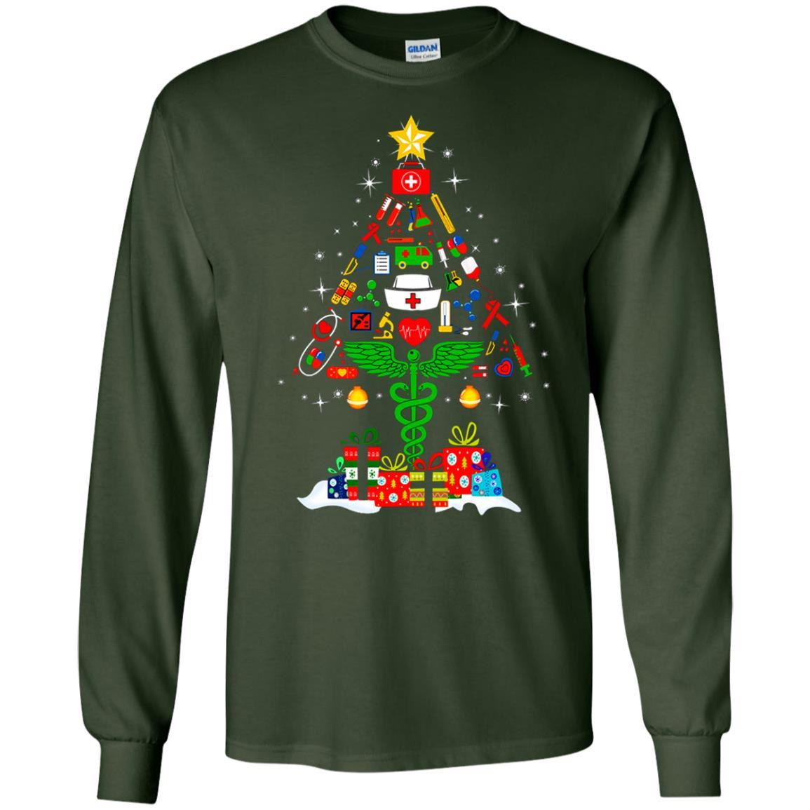 image 90 - Nurse Christmas Tree sweater, hoodie, long sleeve