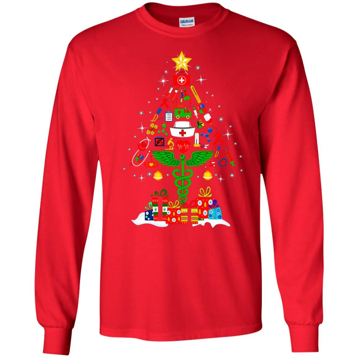 image 91 - Nurse Christmas Tree sweater, hoodie, long sleeve