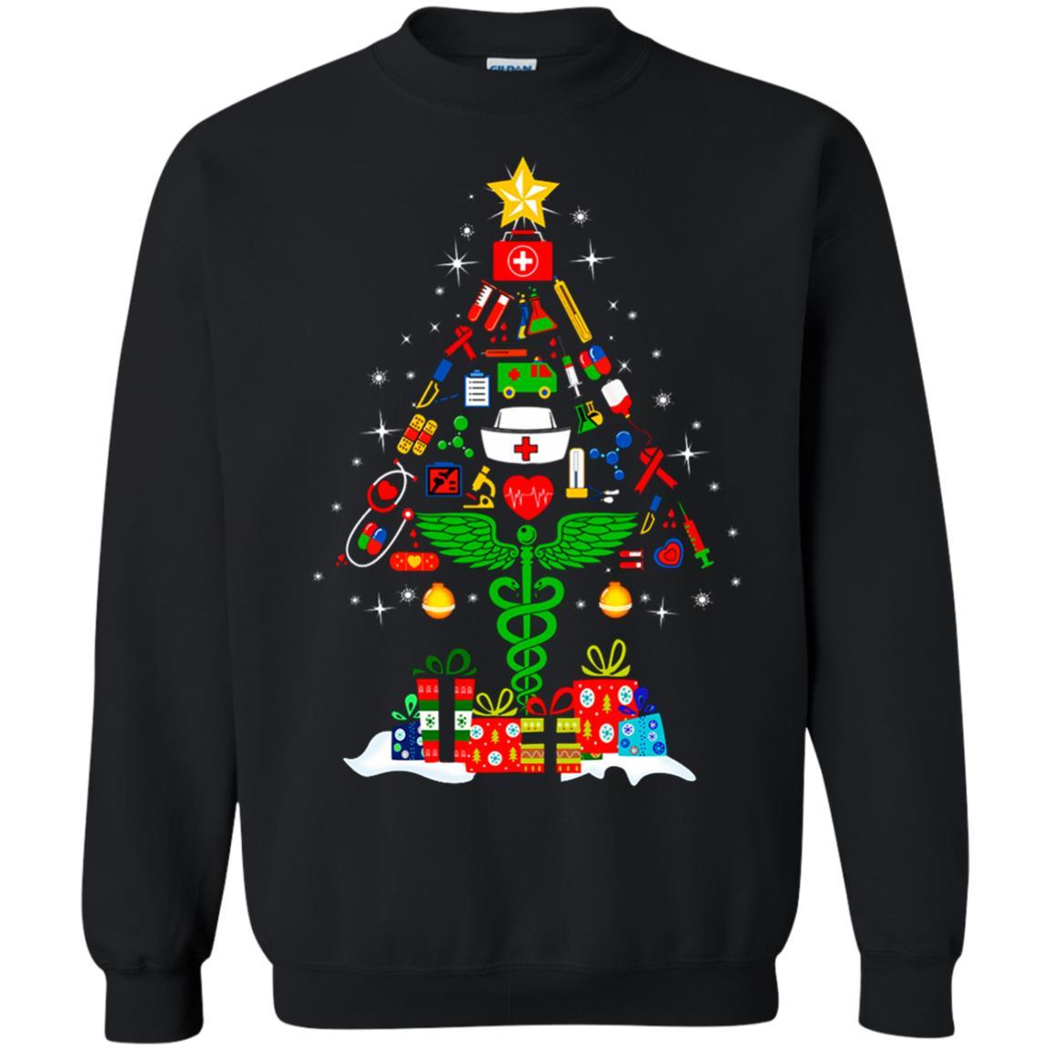 image 95 - Nurse Christmas Tree sweater, hoodie, long sleeve