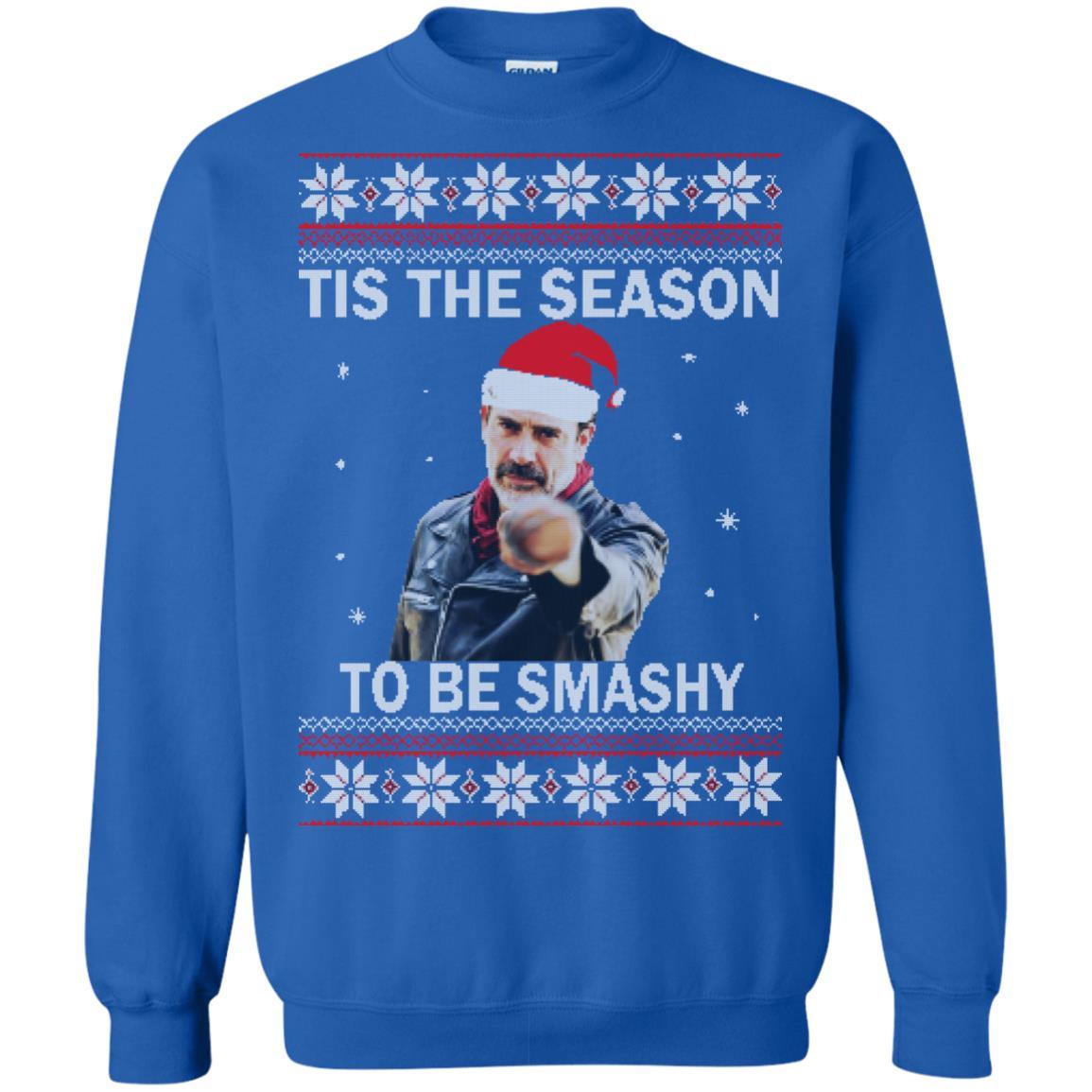 Walking Dead Christmas Sweater.Negan Tis The Season To Be Smashy Christmas Sweater Shirt