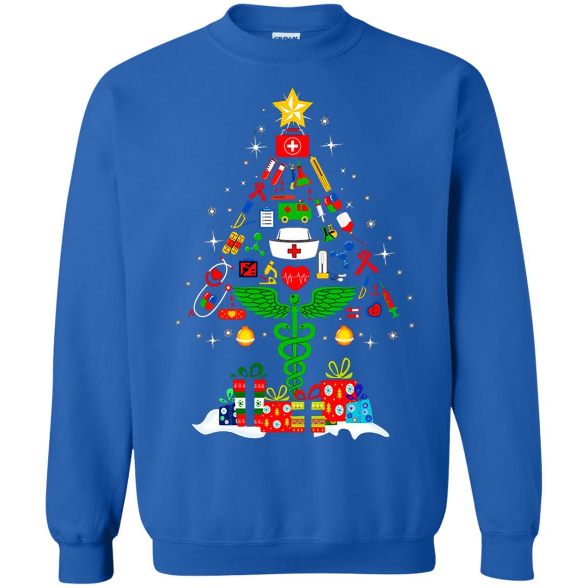 image 99 - Nurse Christmas Tree sweater, hoodie, long sleeve