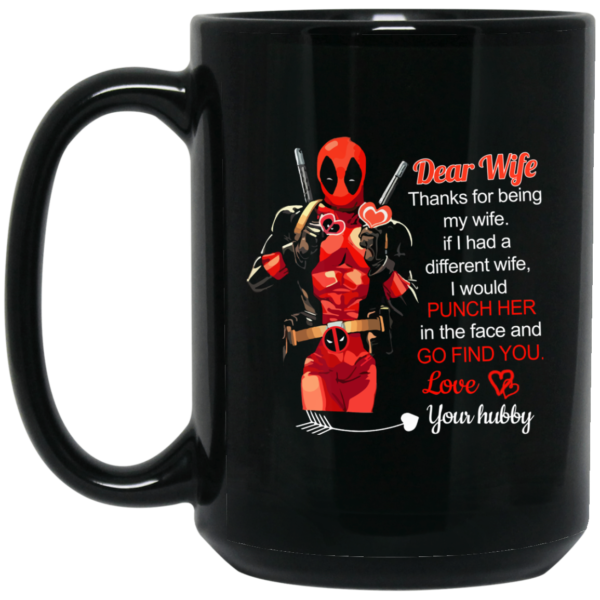 image 3 600x600 - Deadpool: Dear Wife Thanks For Being My Wife Mugs