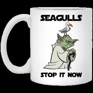 image 4 300x300 - Yoda Seagulls Stop It Now Mug