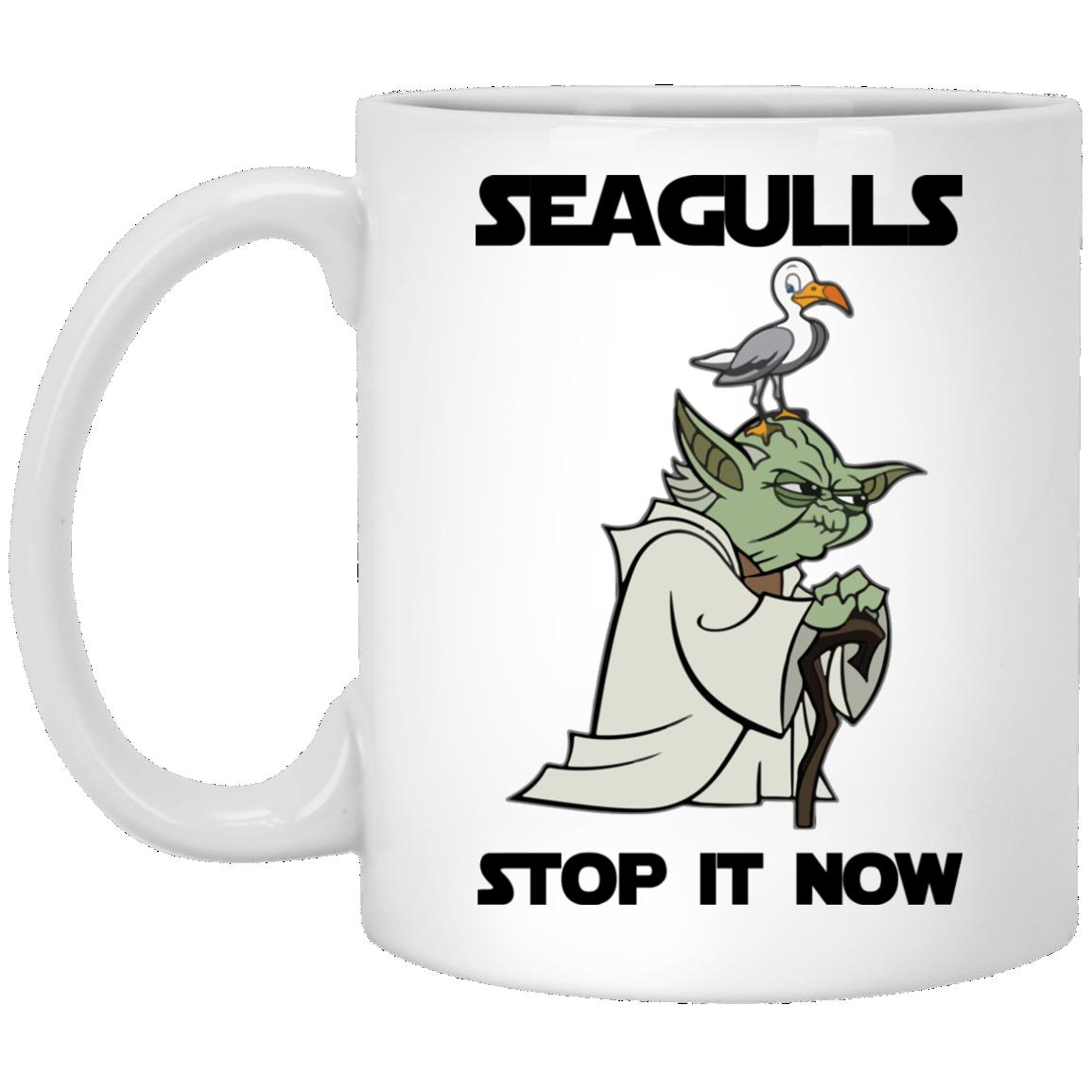 image 4 - Yoda Seagulls Stop It Now Mug