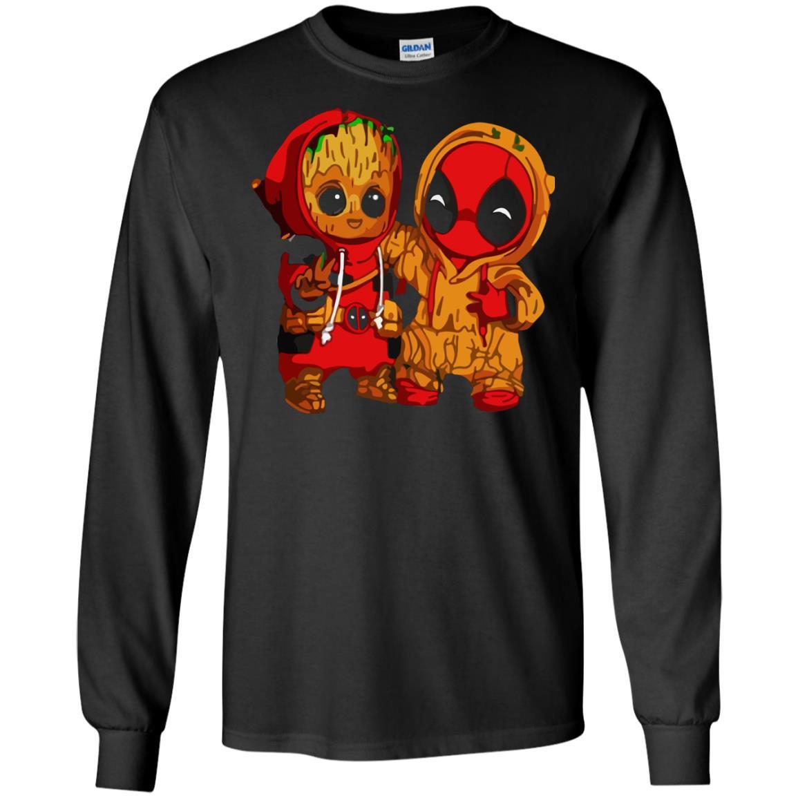 image 433 - Baby Groot And Deadpool Sweatshirt, Hoodie
