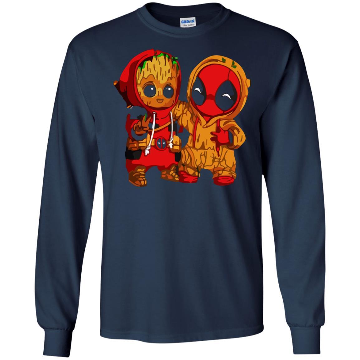 image 434 - Baby Groot And Deadpool Sweatshirt, Hoodie