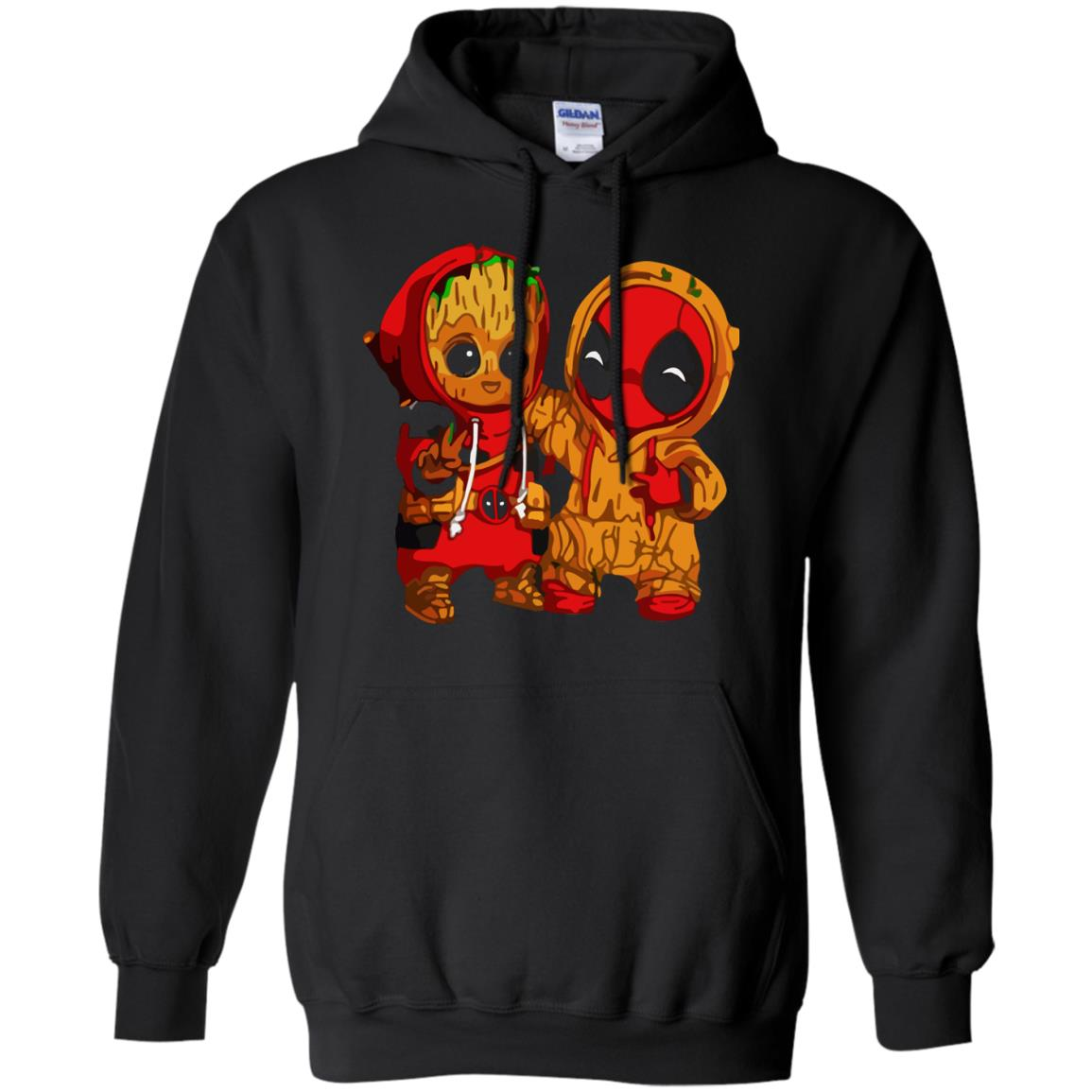 image 435 - Baby Groot And Deadpool Sweatshirt, Hoodie