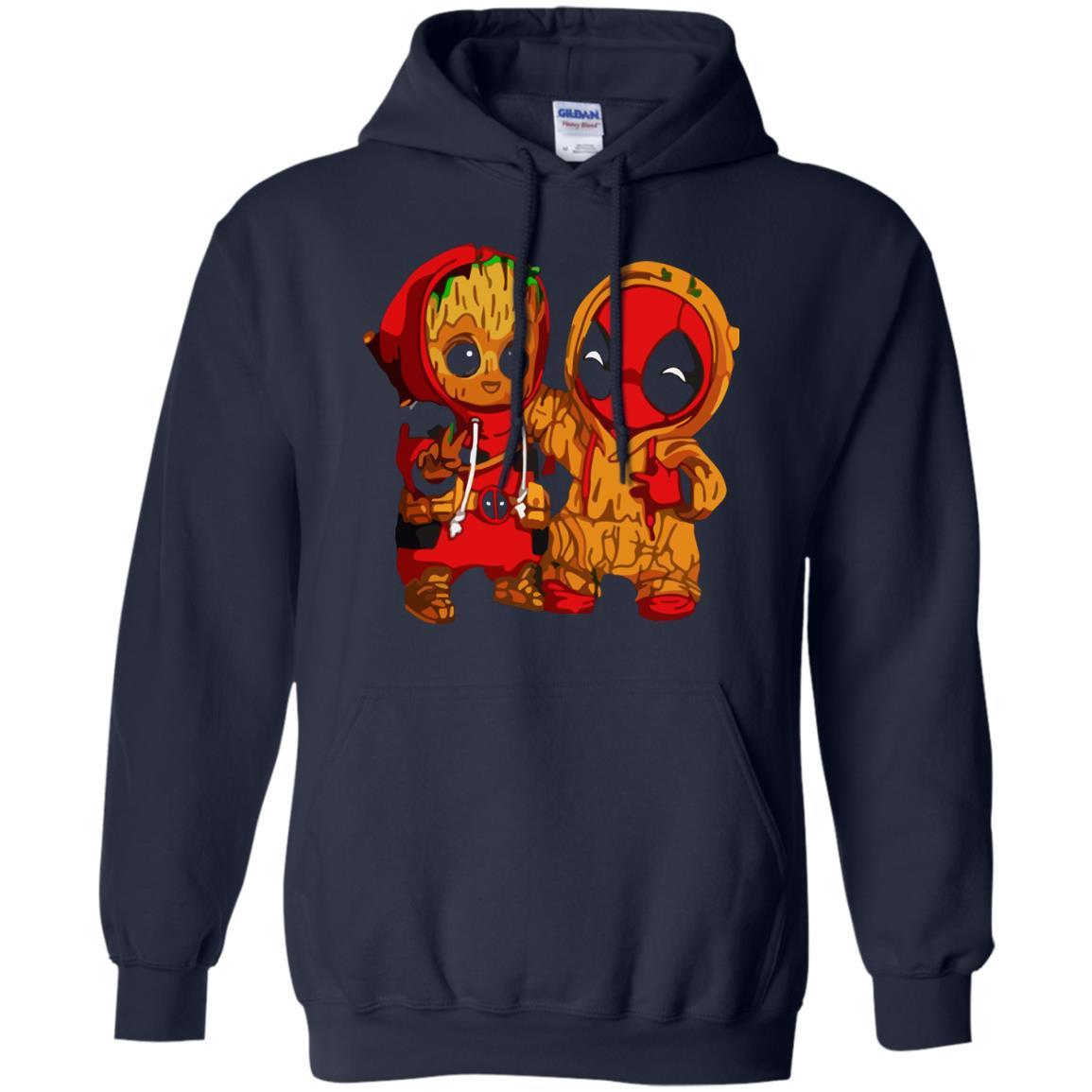 image 436 - Baby Groot And Deadpool Sweatshirt, Hoodie