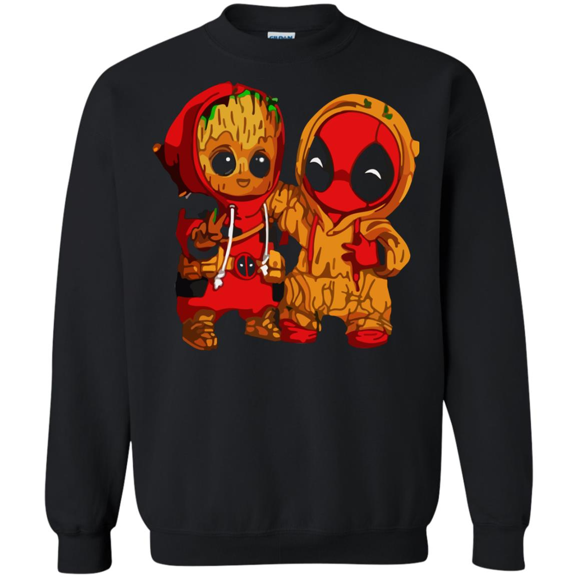image 437 - Baby Groot And Deadpool Sweatshirt, Hoodie